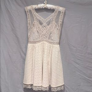 Free People Sz. 2 ivory lace cocktail dress